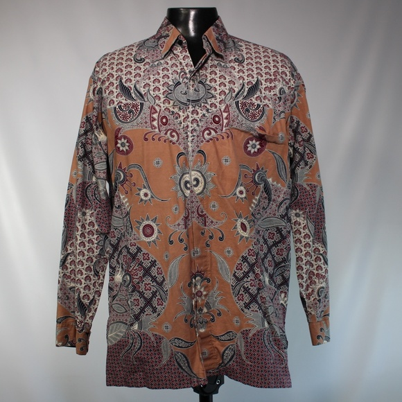 competitive price 01309 c01ec Real Indonesian Batik Long-Sleeve Shirt ~ Crazy!
